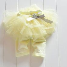 Princess Girl Kids Culottes Leggings Gauze Pants Party  Bow Tutu Skirts Free Shipping(China (Mainland))