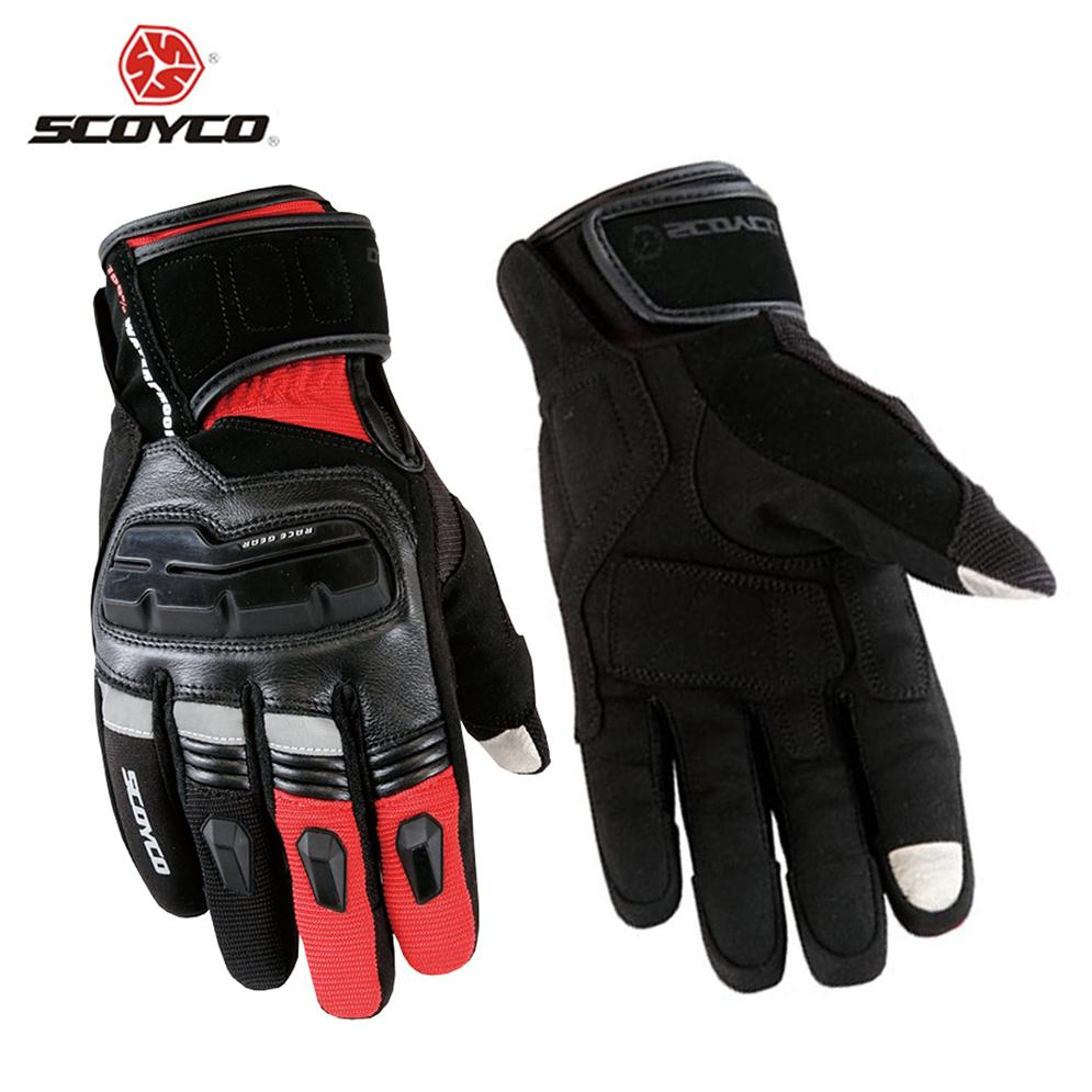 SCOYCO Genuine Cow Leather Motorcycle Touch Screen Gloves Men Waterproof Windproof Warm Winter Motocross Racing Riding Gloves<br><br>Aliexpress