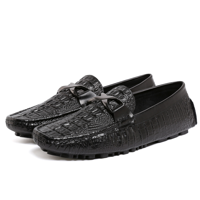 2015 New Arrival Fashion Real Genuine Leather Formal Brand Man Corcodile Print Loafers Mens Slip on Casual Flat Shoes GLM578<br><br>Aliexpress
