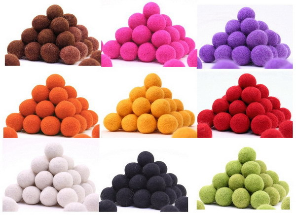 Free Shipping 5000pcs 20mm 2015 New Fashion Craft Mix Color Handmade Wool Felt Balls Wholesale for Rugs Beads Christmas DIY(China (Mainland))