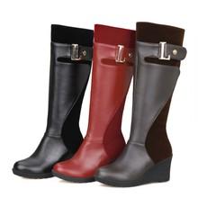 2015 Gran Tamaño 34-52Fashion cargadores de la Borla Dulce estilo Mujeres de Botas Hasta las Rodillas Otoño botas de Nieve Botas de Invierno Cálido Zapatos de HQ106(China (Mainland))