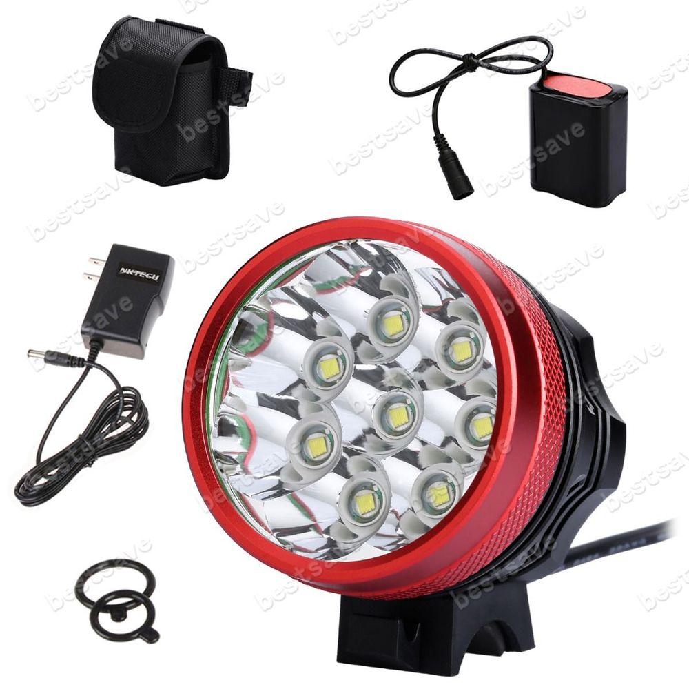 NKTECH N8 8x CREE XML T6 LED Bike HeadLamp Head Light + 9600mAh Battery U2 B0010<br><br>Aliexpress