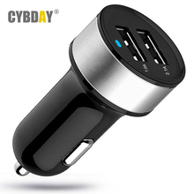 USB Car Charger Universal Smart Fuse Circuit-Breaker Protection Dual USB Port 5V 3.1A Car Charger For Mobile Phones Tablet PC(China (Mainland))