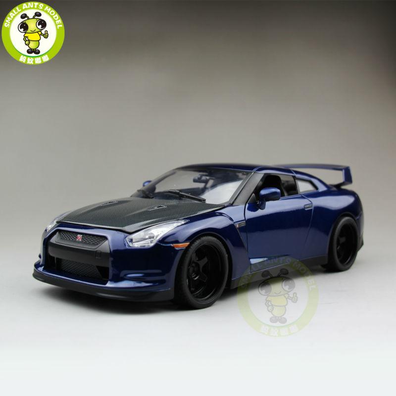 1/18 JADA Brian's Nissan GT-R GTR GT R R35 Fast Furious 7 Diecast Car Model Toys Hobby Collection Blue(China (Mainland))