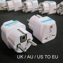 Buy 100 Pcs/lot Universal 2 Pin UK/US/AU EU Plug Adapter Travel Charger Electrical Plug Adaptor Converter Socket for $72.41 in AliExpress store