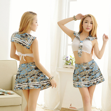 Buy Hot Sexy Women Navy Suit Erotic Temptation Lingerie camouflage Dress Role Playing Uniform costumes sailor suit Underwear