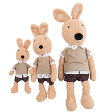 35CM Le Sucre Dolls Heauy Pants Rabbit Plush Stuffed Toys Bunny Doll Gifts For Child Very Good Quality Free Shipping NT022(China (Mainland))