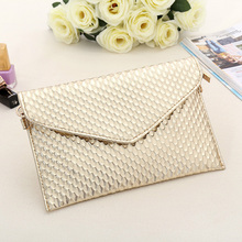Buy Envelope Day Clutch Women Leather Evening Tote Bags Handbag Change Purses Wallet Ladies Crossbody Messenger Shoulder Bag Golden for $5.60 in AliExpress store