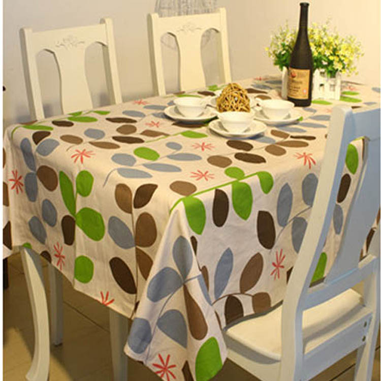 trendy modern style willow pattern tablecloth linen&cotton table cloth restaurant table cover for picnic outdoor use#ZB0031(China (Mainland))