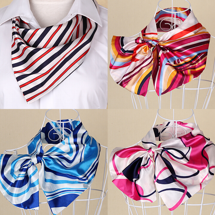 New Brand Casual Female Silk Small Square Wrap Flower Floral Printed Cute Fashion Scarf Muffler Hotel Office Workwear Scarves(China (Mainland))
