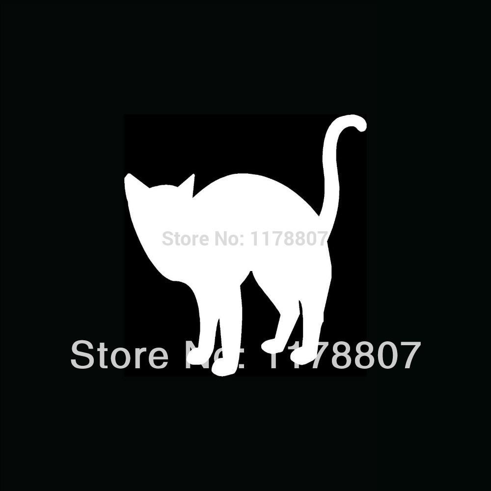 40 pcs/lot Cat Sticker For Car Rear Windshield Truck SUV Bumper Auto Door Laptop Art Wall Die Cut Vinyl Decal 8 Colors(China (Mainland))