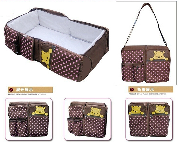 Фотография Portable baby bed Folding travelling bed Novelty high quality Baby Folding Bed mum bag baby Cradles Crib infant safety