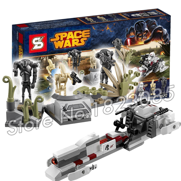 189pcs Bela SY311 Star Wars Battle on Saleucami Model Building Minifigures Buzz Droid Battle Compatible With Lego(China (Mainland))