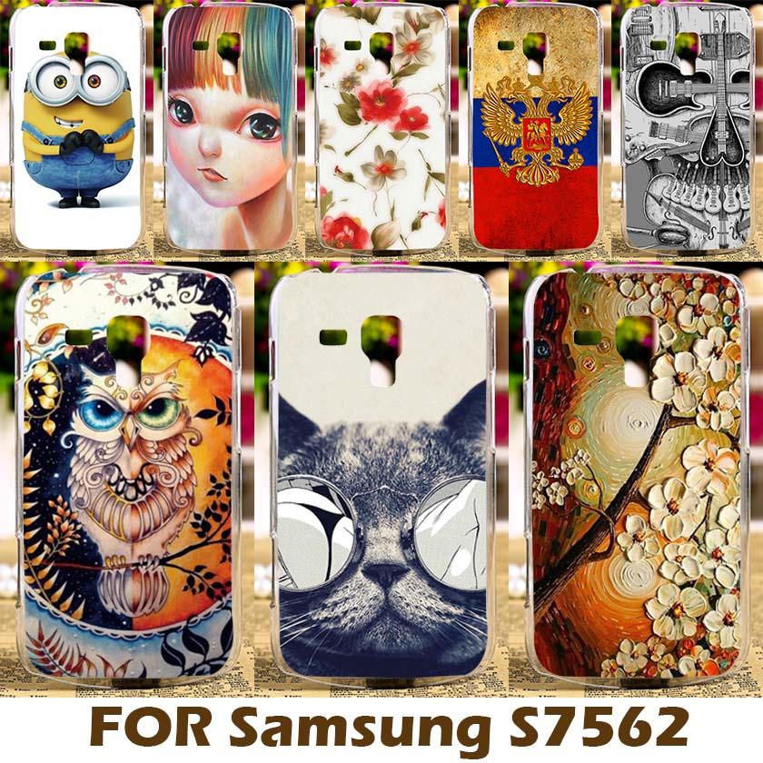 Cases Covers Samsung Galaxy Trend Plus GT S7580/Trend Duos GT S7562 S7560 GT-S7562L/S Duos S7582 Smartphone Cover Cartoon