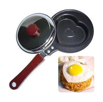 (Minimum order $5,can mix)Mini Non Stick Egg Fry Frying Pan Pancake Pot with Cover HQS-T059(China (Mainland))