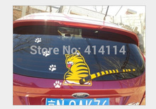 Free Shipping 2015 NEW Hot Sales Cartoon Funny Cat Moving Tail Stickers Reflective Car Window Wiper Decals car styling(China (Mainland))