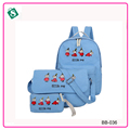 New casual women backpack sets2016 Korean school bags travel backpacks for teenage girls cute style lady