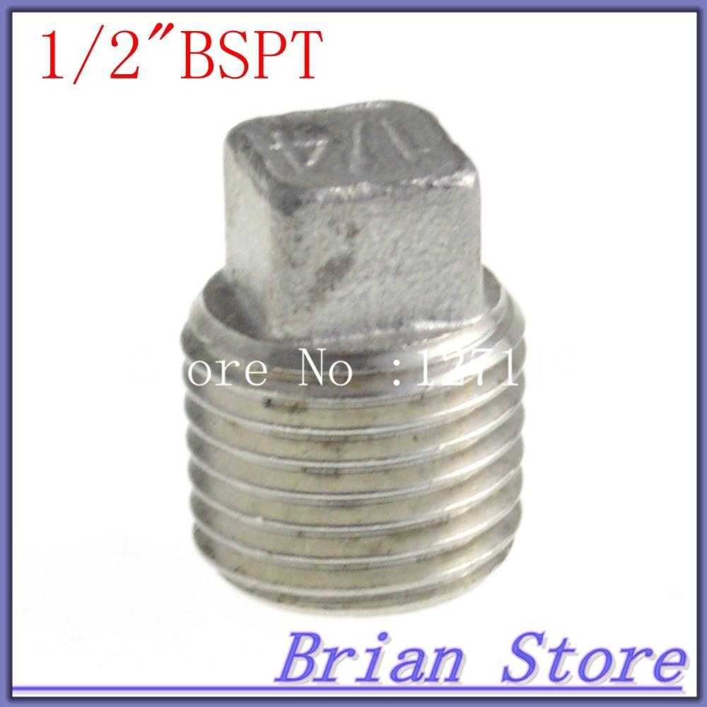 Quot bspt male screwed connection plug end cap joint pipe