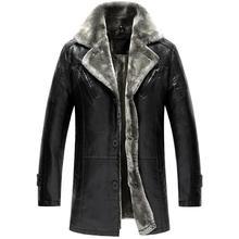 Winter Genuine Leather Mens Jacket Brand Clothing Fashion Men Sheepskin Leather Jackets And Coats 2016 New Mens Leather Jacket(China (Mainland))
