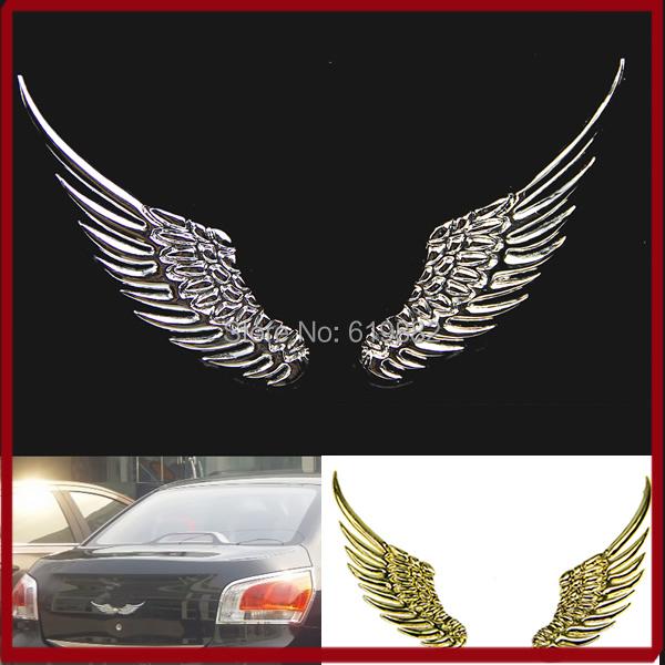 A31 в продаже 1 пара логоса автомобиля 3D сплав металла ангел ястреб крылья эмблема значок стикера этикеты