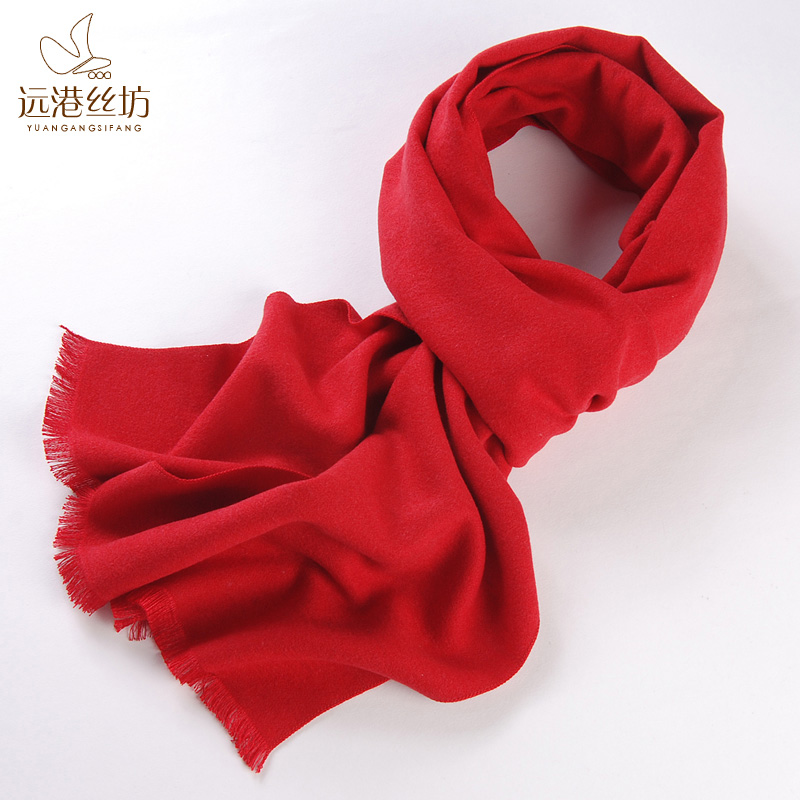 autumn and winter male silk brushed scarf long design silk mulberry silk scarf commercial thermal scarf general(China (Mainland))