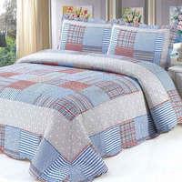 2015  good quality 102-2colorful prewash bedcover bedding set