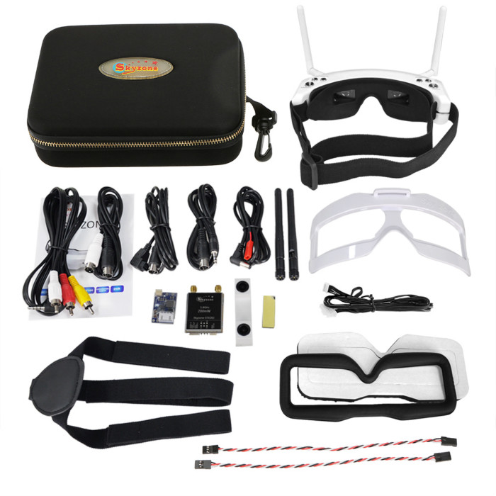 Skyzone SKY02S V+ 5.8G 40CH 3D FPV Goggles with Channel Function highlight in HDMI-IN channel auto searching HDMI IN