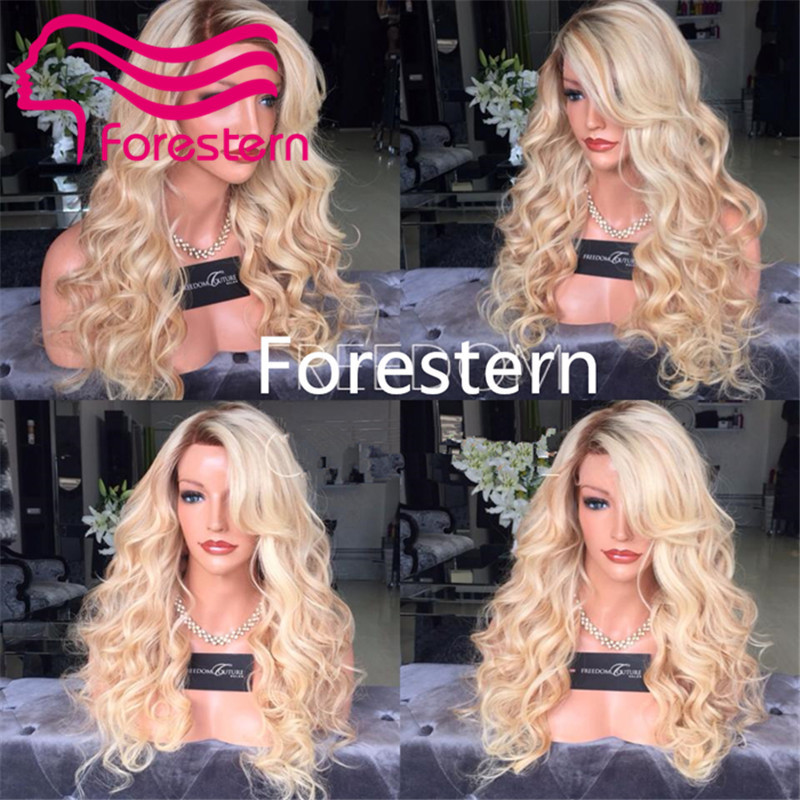 7A Grade 100% Peruvian Virgin Hair Wig Body Wave Ombre Full Lace/Front Lace Wig  2#T613# Long Wavy Blonde Human Hair Wigs <br><br>Aliexpress