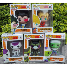 2015new Dragon Ball Z Funko POP Super Saiyan Son goku Vegeta Cell Piccolo Frieza PVC Action Figure Model DragonBall Toy Gift dbz