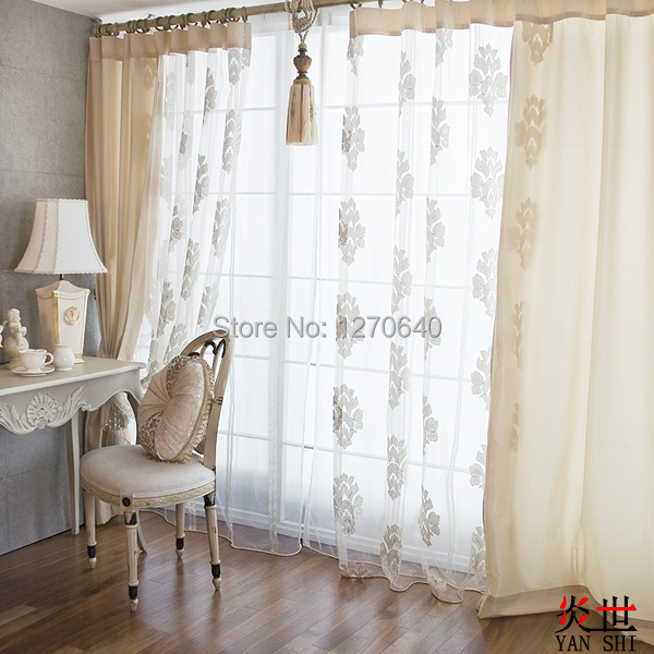 Buy new design home decoration patchwork voile curtains for window tulle fabric - Curtain new design ...