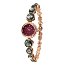 2016 New TIME100 Fashion Vintage Bracelet Watch Women Small Dial Alloy Abalone Shell Bracelet Quartz Watches relogio feminino