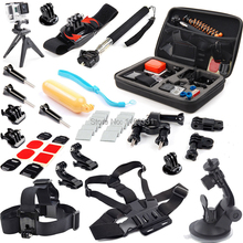 Go Pro Hero 4 Kit for GoPro Hero 4 3+ 3 Travel Storage Bag Chest Strap Holder Accessories Set