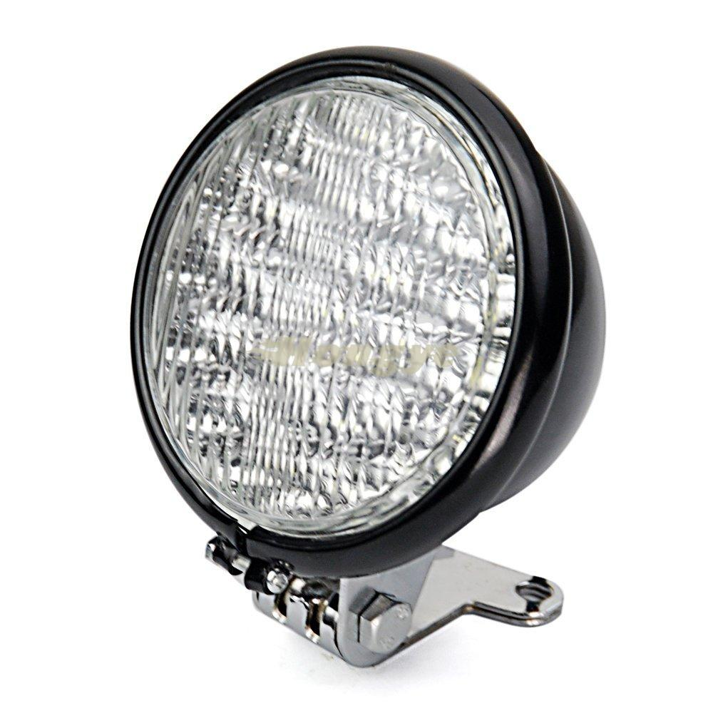 "5"" Black Clear Lens 30 LED Head Running Light Headlight with Bracket For Harley Honda Motorcycle(China (Mainland))"