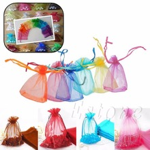 10pcs Drawstring Organza Jewelry Gift Pouch Bags Wedding Christmas Party Decoration(China (Mainland))