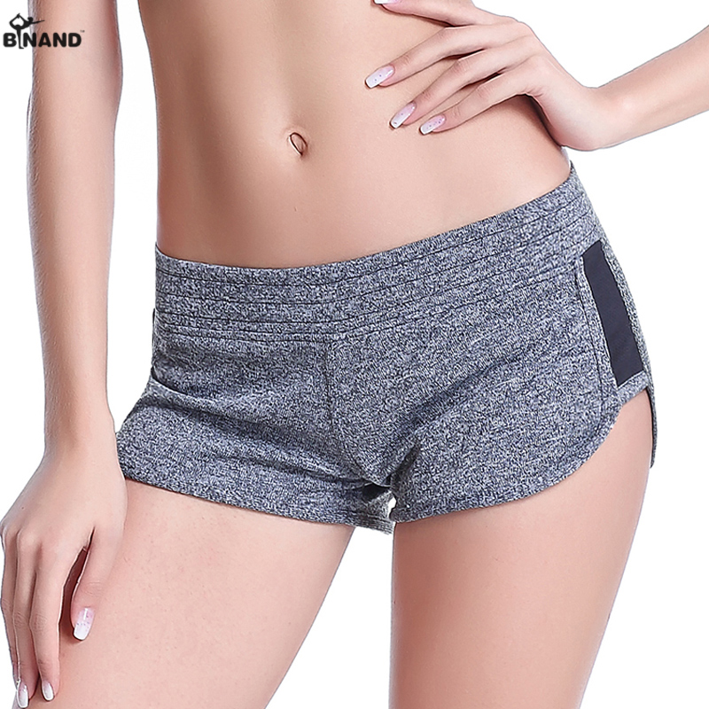 2016 Women Sport Fitness V-NOTCH Yoga Shorts For Workout Slimming Hiking Female Running Lady Low Rise Gym Cycling Sport Short(China (Mainland))