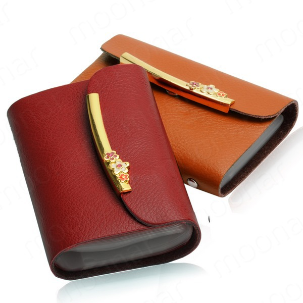 High Quality Genuine Leather Card Case Business Card holder men&women Credit card Bag ID card wallet Coin Purse YYB530*55(China (Mainland))