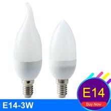 Buy Ampolleta Led E14 Vela Led Candle Bulb Energy Saving Lamp Light Bulb Lampada Led 220V 3W Home Lighting Decoration Bombillas Led for $1.32 in AliExpress store