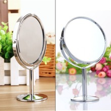 Stainless Steel Holder Cosmetic Bathroom Double-Sided Mirror Desk Makeup-round  new arrival(China (Mainland))