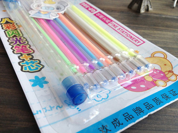 [YYYYAAAA] 8 colors/box Fluorescent pen Highlighter Marker pen Candy Color Office School supplies(China (Mainland))