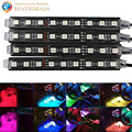 4pcs 7 Colors RGB LED Auto Car Atmosphere Decoration Light Interior Glow Decorative Lamp Bulb 12V