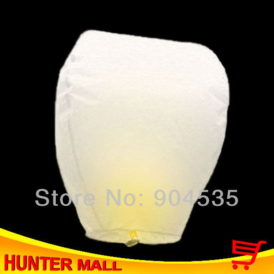 New Arrival 35pcs/lot chinese sky lantern Oval-Shape fire balloon wish lantern white color only with free shipping
