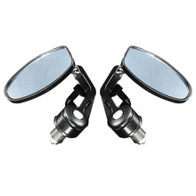 Buy 2Pcs Universal 7/8'' Black Bar End Rear Mirrors Moto Motorcycle Motorbike Scooters Rearview Mirror Side View Mirrors Cafe Racer for $16.83 in AliExpress store