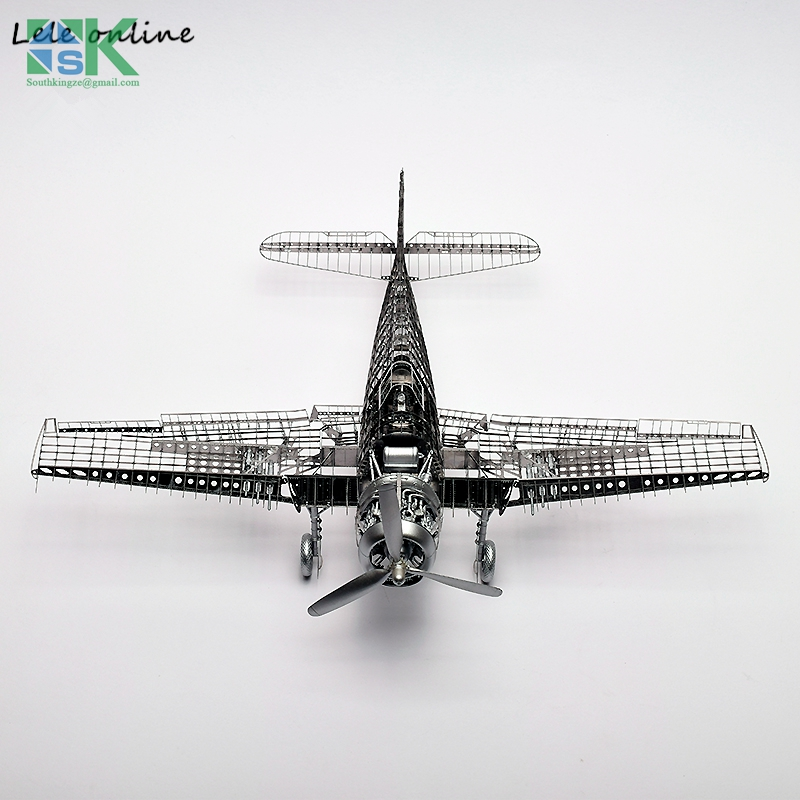 2016 New 1/48 F6F-5 F6F Hell Cat fighter High end 3D metal puzzle assembled with glue World War II military aircraft model For y(China (Mainland))
