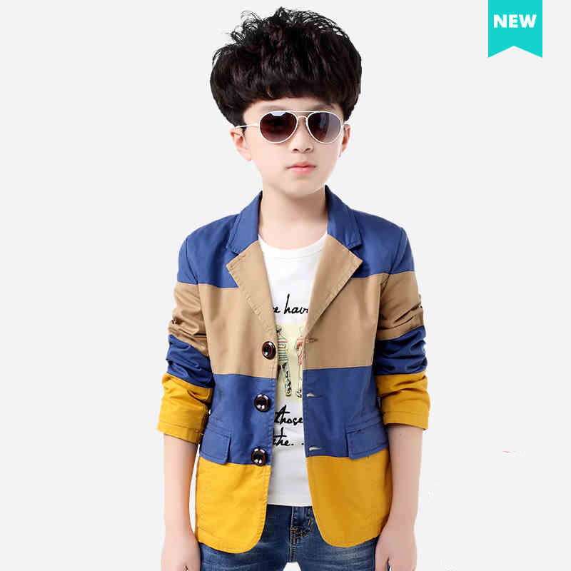 Han edition small cloth remainings children's wear the spring of 2016 the new boy's cotton cardigan suit children sports coat(China (Mainland))
