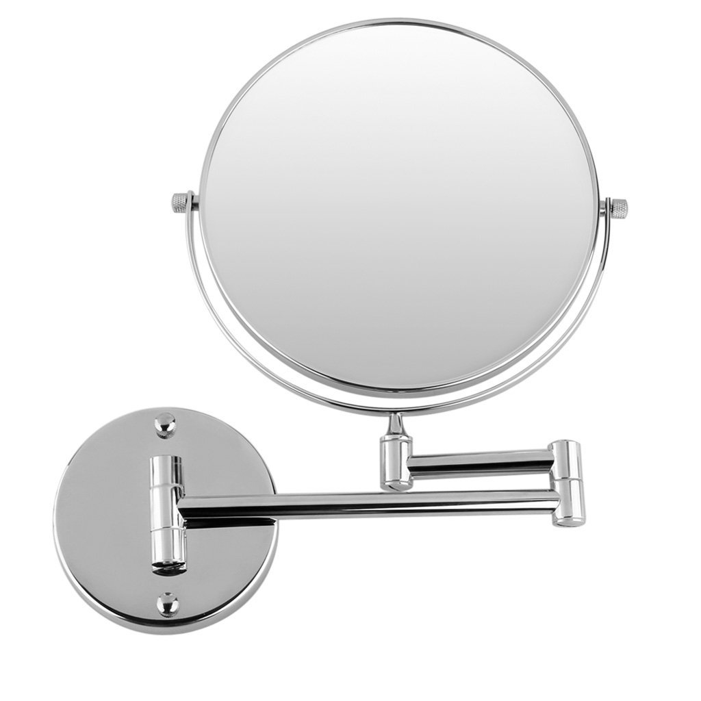 JEYL Hot Chrome Round Extending 8 inches cosmetic wall mounted make up mirror shaving bathroom mirror 3x Magnification(China (Mainland))
