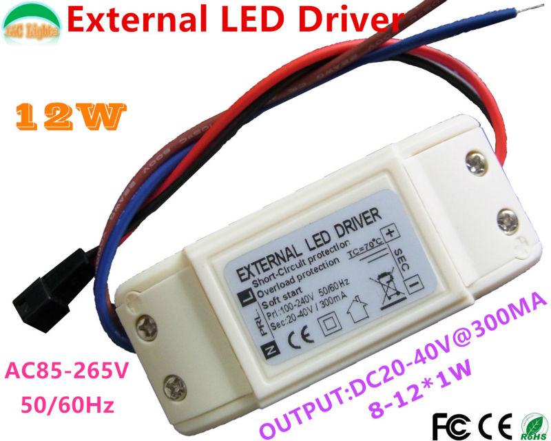 Wholesale High Quality 8W 9W 10W 11W 12W LED Driver Adapter 20V - 40V Transformer 300mA driver for LED DIY Light AC85-265V CE<br><br>Aliexpress