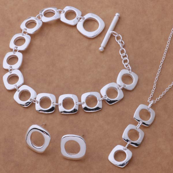 AS039 Hot 925 sterling silver Jewelry Sets Earring 239 + Necklace 239 + Bracelet 163 /abvaitca aiiaizpa(China (Mainland))