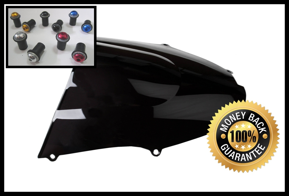 Black Motorcycle Windshield Windscreen For Kawasaki ZX9R 2000 2001 2002 2003 Wind Shield Come With Windscreens Bolts