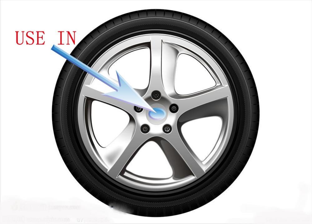 New 4Pcs Car Stickers Wheel Center Fits Hub Cap Stickers 56.5mm wheel center emblems for vw polo golf 4 passat b5 touran bora(China (Mainland))