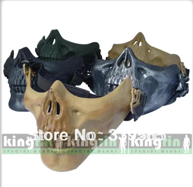 Protect guard mask Skull Skeleton/Black/Silver black/Green/Sand/ Airsoft Paintball Half Face Mask M03 - Outdoor's Equipment store